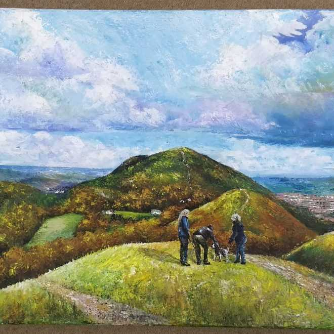 Joe Walton 'Chat on the hill (Malvern)