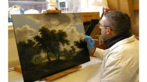 painting restoration by Alan Brown
